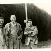AP213 Prior, Ryle, Percival in front of Prior's home in Christchurch.jpg